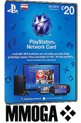 PSN Network Card 20€ EUR 20 Euro Playstation Prepaid Code PS3/4 Österreich - AT