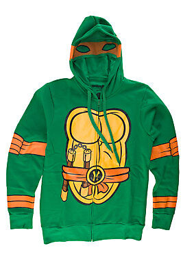 Teenage Mutant Ninja Turtles I Am Michelangelo Mens Zip-Up Costume Hoodie
