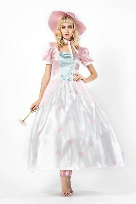 Women's Toy Story Bo Peep Shepherdess Halloween Costume Cosplay Dress Gown ZG9 - Peeps Halloween