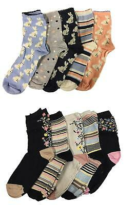 Cotton Soft Top Socken (M&S Ladies Cotton Rich ankle socks Sumptuously soft Touch Gentle Top Pack Of 5)