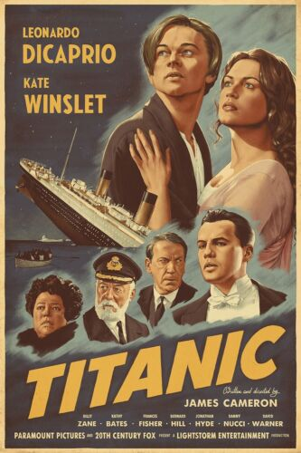 1997 Titanic Movie Poster Print > Jack Dawson > Rose > Leonardo DiCaprio ⚓🍿