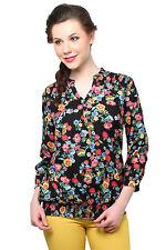 Moderno Black Floral Printed Top (MOD020_Multi)