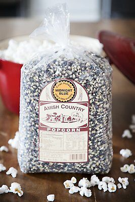 Amish Country Popcorn -Midnight Blue Gourmet Popcorn Kernels 6 Lb- Popping Corn