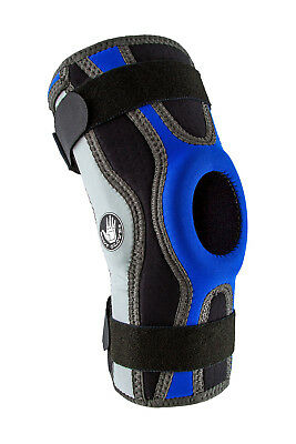 Knee Brace Sports Hinged (Body Glove 5mm Perforated SBR Sports Hinged Wraparound Knee Brace BG SWK)