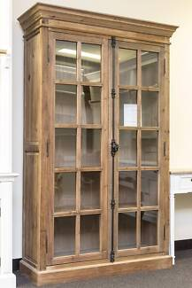 French Provincial Style Antique glass display cabinet Bookcase Dandenong South Greater Dandenong Preview