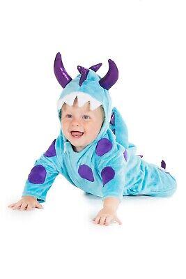 Baby Jungen Blau Monster Anzug Kostüm Alter 6 12 18 24 Monat 2 3 Jahr