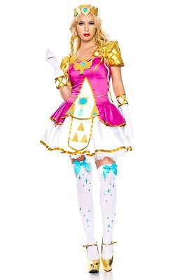 Princess Elf Zelda Cosplay Costume 7 Piece Adult Woman Theater