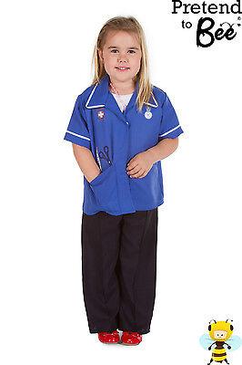 GIRLS KIDS CHILDRENS CHILDS NURSE NURSES TUNIC UNIFORM OUTFIT COSTUME AGE 3-5-7 (Kids Nurses Outfit)