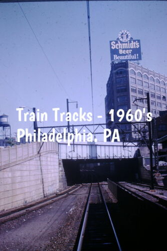 35mm slide - Train Tracks, Philadelphia PA - 1960