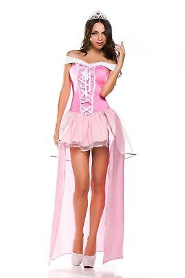 One-Piece Deluxe Leg-Long Dress Pink Princess Costume fo Cosplay Halloween - Princess Halloween Costumes