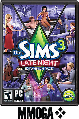 Sims 3 - Late Night Expansion Pack Addon Key EA/ORIGIN Download Code [PC][EU] (Late Night Sims)
