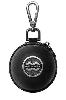 Ballsak Clip-on Carry Cue Ball Case for Cue Balls to Cue Case Silver/Black