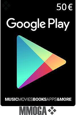 50€ EUR Google Play Store Gutschein Key - 50 Euro Guthaben Code Gift Card - EU