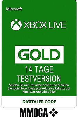 Xbox Live Gold Mitgliedschaft 14 Tage Testversion Code 14 Days Xbox One 360 Key