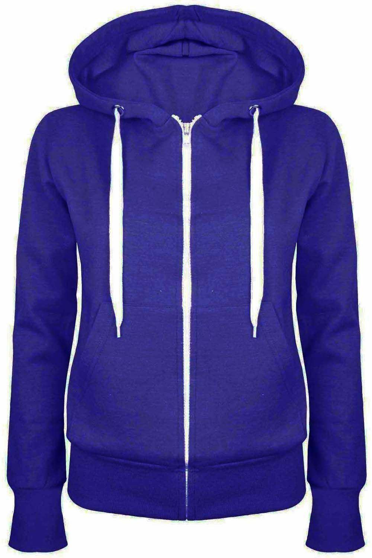 Damen Plain Zip Up Hoodie Sweatshirt Damen Fleecejacke Kapuzenoberteil S bis 5XL