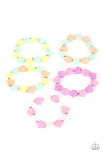 NEW Paparazzi Jewelry Bracelet Set of 5 Starlet Shimmer Stars Assorted Colors
