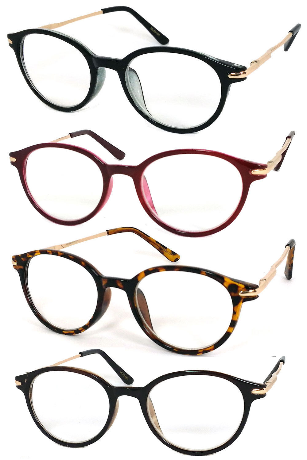 small reading glasses readers clear lens metal arms
