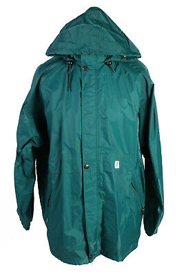 K-Way Waterproof Raincoat Festival Outdoor Jacket Unisex Hooded L Green - SW2564