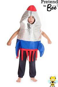 Chicos Niños Childrens espacio cohete Elaborado Vestido Fiesta Disfraz Traje Edad 3,4,6,6,7