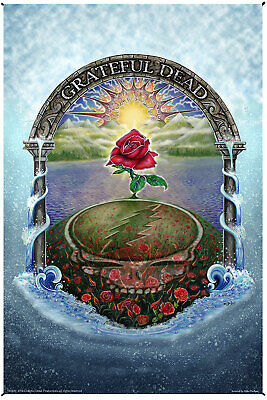 - Grateful Dead Rose Garden Heady Art Print Tapestry SYF Psychedelic Decor 2 Sizes