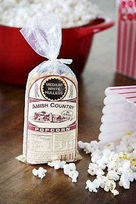 White Gourmet Popping Corn - Amish Country Popcorn - Medium White Gourmet Popcorn Kernels - 2Lb- Popping Corn