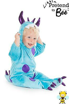 BOYS TODDLER BABY BOY DELUXE BLUE HALLOWEEN MONSTER COSTUME OUTFIT AGE 1-2-3