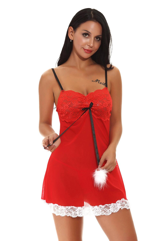 a4302851782 Buy Women s Christmas Sexy Lingerie Sleepwear Fancy Dress Babydoll