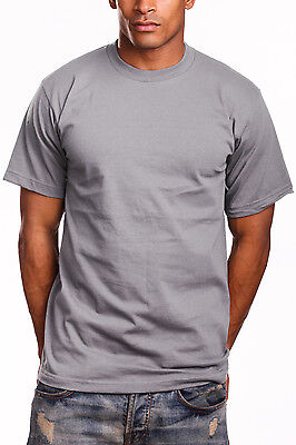 Pro 5 Heavy Weight T Shirt Mens Plain Crew Neck Short Sleeve Big Size 3Xl 7Xl