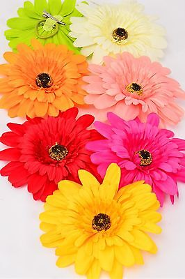 (Jumbo Silk Daisy Hair Clip (multipurpose clip/pin/elastic pony) 6