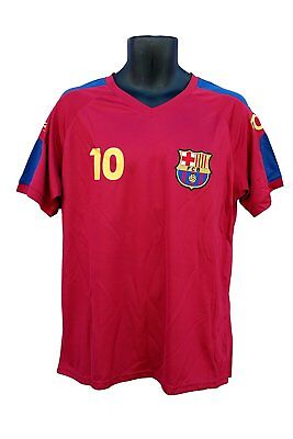 1aa5e4a22 FC Barcelona Messi Number 10 Official Adult Soccer Signature Poly Jersey XL