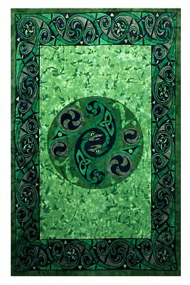 Celtic Irish Snake Tie-dye Tapestry Tablecloth Beach Sheet Wall Hanging 60x90 - Tie Dye Tablecloth
