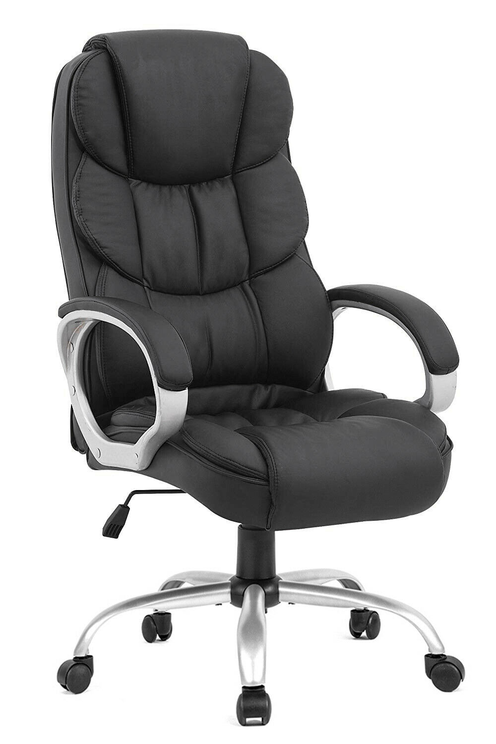 Details About High Back Leather Office Chair Executive Office Desk Task Computer Chair