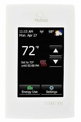 Nuheat SIGNATURE Programmable Dual-Voltage Thermostat with W