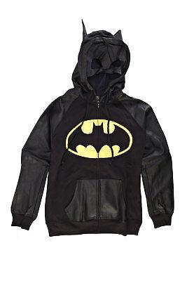 DC Comics Batman Half Mask Juniors Zip-Up Hoodie Sweatshirt