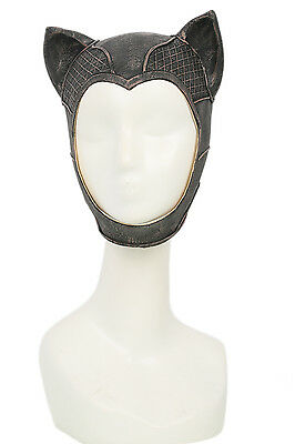 Catwoman Mask Latex Halfface Mask Batman Cosplay Halloween Mask for Women XCOSER