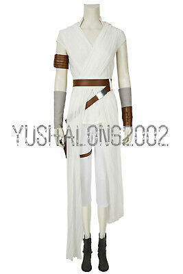 Star Wars 9 The Rise of Skywalker Rey Cosplay Kostüm Damen Halloween Costume neu