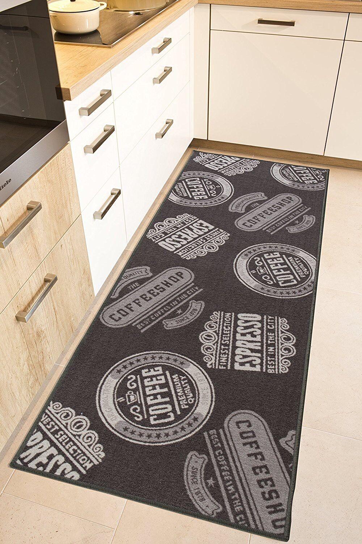 Küchenläufer Kaffee Coffee Waschbar Teppich Läufer Küche Modern Cafe Espresso