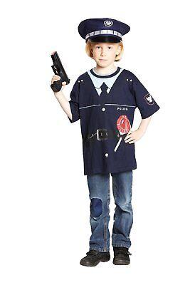 Polizei Shirt Kostüm KINDER Polizeikostüm - Polizei Kostüm Männlich