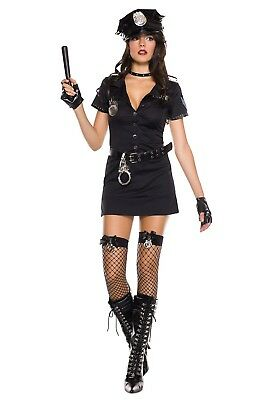 Music Legs Sexy Dirty Cop Costume 70325 Adult Sexy Halloween Party Clothing  ()