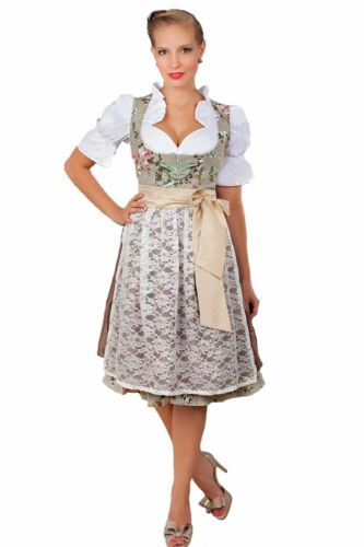 2-Piece Edelnice Dirndl Dress Authentic Bavarian Floral Exclusive Size 46 NEW
