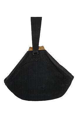1930s Handbags and Purses Fashion VINTAGE 1930s 1940s Black Silk Fabric Brass Frame Wristlet Bag (S) $41.45 AT vintagedancer.com