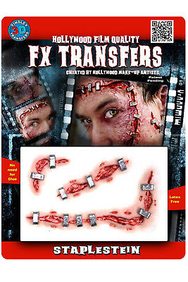 PRO TINSLEY TRANSFERS 3D SCARS WOUNDS FILM QUALITY HALLOWEEN COSTUME FX MAKE UP