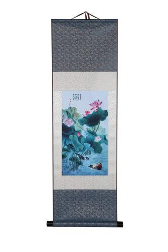 Art Asian Wall Scroll, Silk Chinese Painting Oriental Wall Decoration