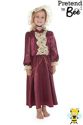 GIRLS KIDS RICH VICTORIAN LADY HISTORICAL FANCY DRESS COSTUME OUTFIT AGE 3-5-7