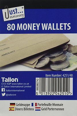 Just Stationery 70x105mm Money Envelope 80 Wallets 4251