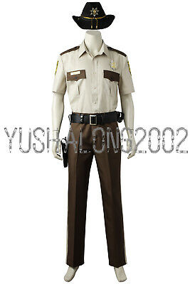 The Walking Dead Rick Grimes Cosplay Kostüm Halloween Costume Hut neu