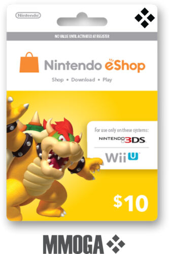 Nintendo $10 eShop Card USD 10 Dollar - Nintendo Switch/3DS/WiiU - USA USER ONLY