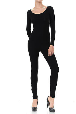 Women Catsuit Cotton Lycra Tank Long Sleeve Yoga Bodysuit Jumpsuit](Long Sleeve Catsuit)