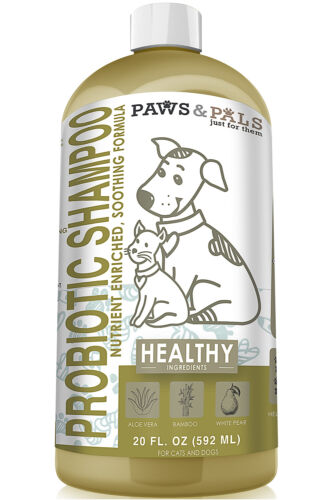 Probiotic Dog Shampoo for Pet Cat Dry Itchy Sensitive Skin Aloe Vera Clean Wash