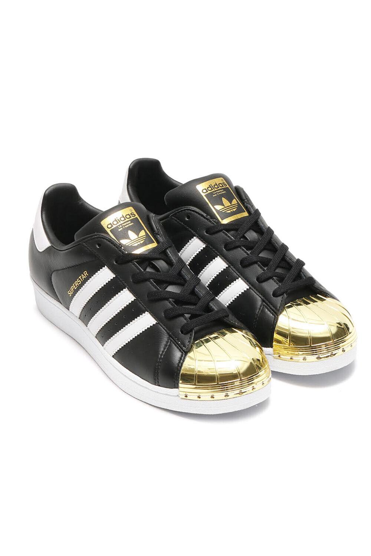 Metal Toe Black Gold Shoes